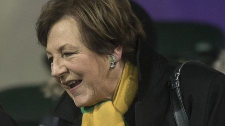 Delia Smith at the Norwich City U18 v Barnsley U18 FA Youth Cup match at Carrow Road, NorwichPicture