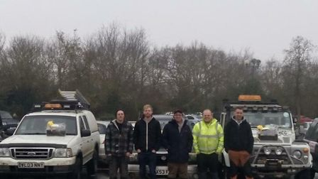 These individuals were dubbed Fakenham's super heroes after helping during the snow. Picture: JONATH