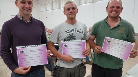 From left to right: Jonathan Court, Tom Sutton and Andrew Dix who received Commendation Awards from