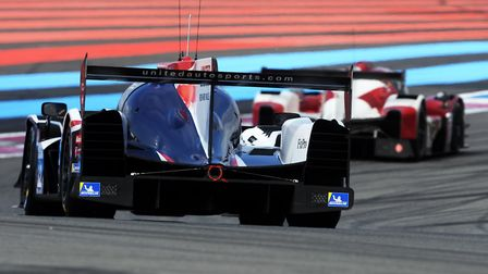 Alex Brundle on his way to claiming third place on the European Le Mans grid with the United Autospo