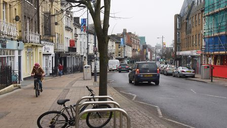 Prince of Wales Road in Norwich is set for more roadworks. Picture: DENISE BRADLEY