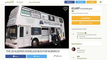 A screenshot of the GoFundMe page set up to raise money for the bus. Photo: GoFundMe