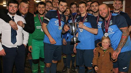 Briston celebrate after their 3-1 victory over Norwich Medics in the final of the Barnes Print Centr