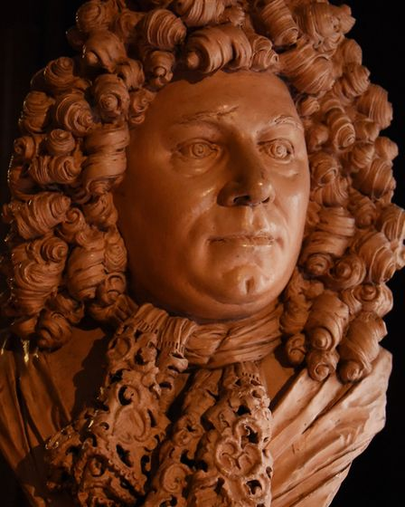 An impressive sculpture of Sir Cloudesly Shovell at Strangers' Hall. Picture: DENISE BRADLEY