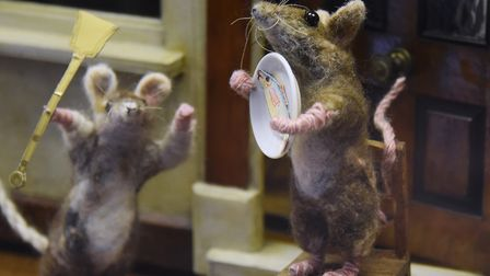 Toy mice at Strangers' Hall. Picture: DENISE BRADLEY