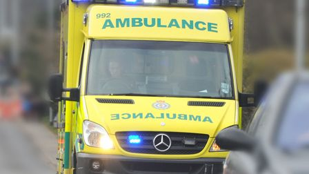 Emergency services were called to a crash in Hellesdon . Picture: Simon Finlay