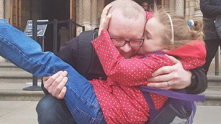 Stuart Sansbury with his daughter Tilly. Pic: Courtesy of Stuart Sansbury.