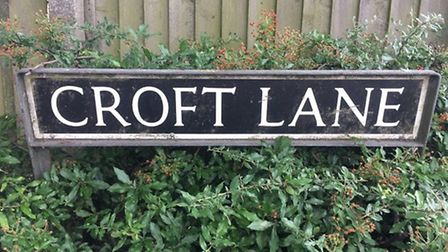 A home could be built on a former Baptist graveyard on Croft Lane in Diss. Picture: Simon Parkin