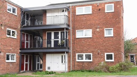 The block of flats in Pelham Road where the tenant was evicted from. Picture: DENISE BRADLEY
