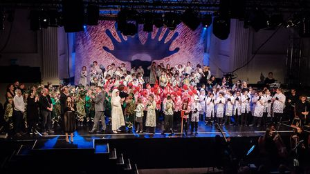 The world premiere of children's opera A King's Ransom at Open in Norwich, starring pupils from St G
