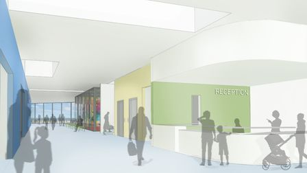 An inside view of the reception area being proposed for the new £26m leisure complex that will repla