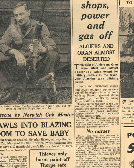Alan Baker, author of A Life on the Rails, describes the moment he rescued a baby from a burning bui