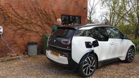 James Tubby, from Loddon, purchased his BMW i3 in December last year. Picture: Contributed by James