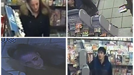 Police have issued CCTV images of a man and woman they would like to speak to in connection with a b