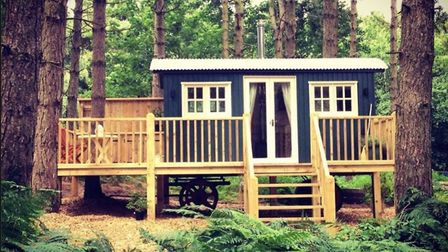 Glamping in the woods near Grimston. Photo: Happy Valley Norfolk