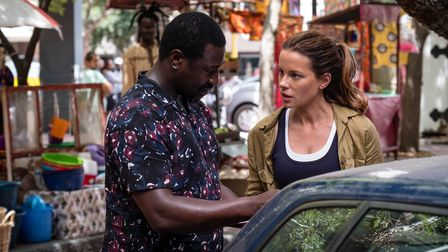 KATE BECKINSALE as Georgia Wells and JACKY IDO as Emmanuel (C)TWO BROTHERS PICTURES/ITV