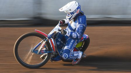 King's Lynn Stars' captain Robert Lambert was in good form at Poole after a sluggish start to the ne
