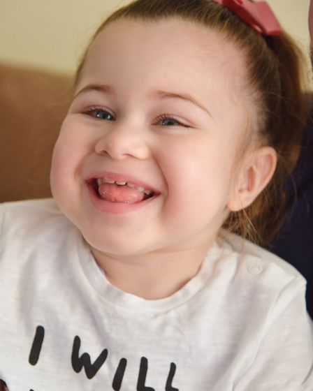 Harper Sharrocks parents, Steve and Natasha are fundraising to take their daughter to America for a