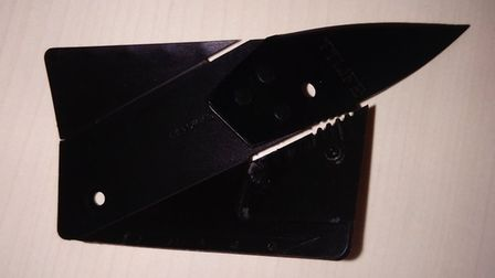The blade a man arrested in Kings Lynn was found to be carrying. Picture: Norfolk Police