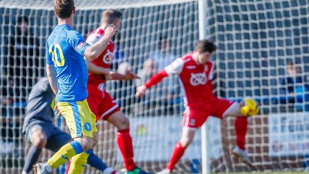 Action from King's Lynn Town's win over Tamworth Picture: Mark Hewlett Photography