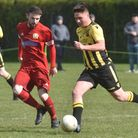 Action from the game between Hellesdon and Caister Picture: Sonya Duncan