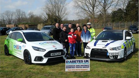 Youngsters with type one diabetes got the chance to learn to drive. Photo: Norwich and District Diab