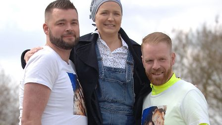 Andy Lucraft-Townley (left) and Chris Hayes with Heather Bellamy Picture: Chris Bishop