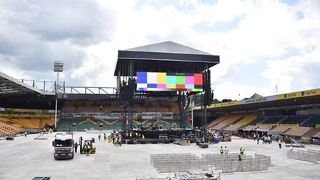Take That first night at Carrow Road in June 2017 Credit: Antony Kelly