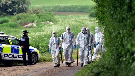 The police investigation into the murders of Peter and Sylvia Stuart in Weybread in 2016. Picture: S