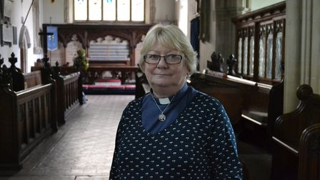 Rev Susan Loxton, vicar in Weybread, who was interviewed for the TV documentary about the murders of