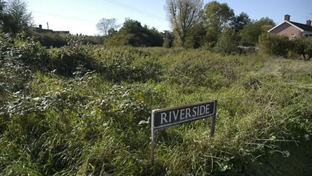 A plot of land in Diss where a house on stilts could be built. Picture: Simon Parkin