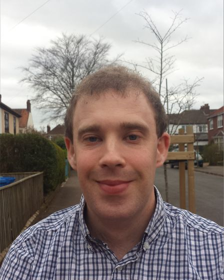 Tim Jones, one of the Green candidates for Bowthorpe. Pic: Green Party.