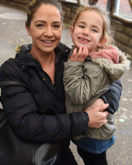 Danielle Hunter, and her daughter, Marcy Reynolds, four, at Great Yarmouth's Joyland. Picture: DENIS