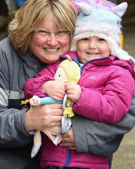 Lucy Brown and her daughter, Evie, three, at Great Yarmouth's Joyland. Picture: DENISE BRADLEY