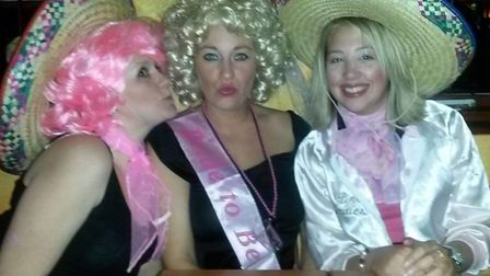 Fond memories of Pedro's, celebrating a hen do as the 'Pink Ladies'Pic: Lucie Roberts