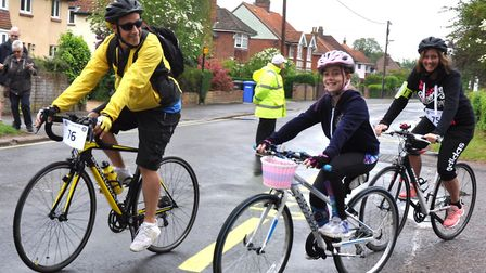 Family riders set off on the Beccles Cycle for Life ride last year. The annual charity bike ride ret