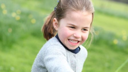 Princess Charlotte, who is celebrating her fourth birthday, at her Norfolk home. Picture: The Duches