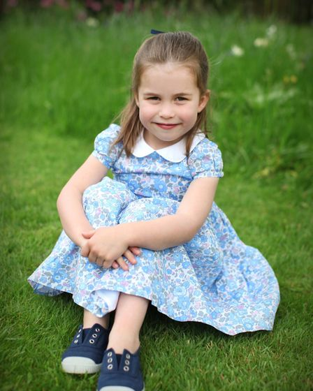 Princess Charlotte, who is celebrating her fourth birthday, at Kensington Palace. Picture: The Duche
