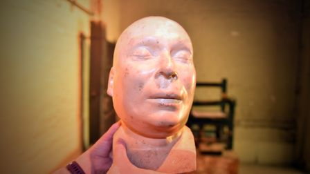 The death masks at Norwich Castle. PICTURE: Jamie Honeywood