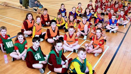 Some of the children competing at the successful inaugural Oliver Hall Memorial day. Pictures: Mick