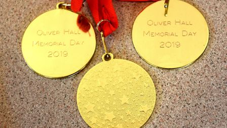 Some of the medals presented at the successful inaugural Oliver Hall Memorial day. Pictures: Mick Ho