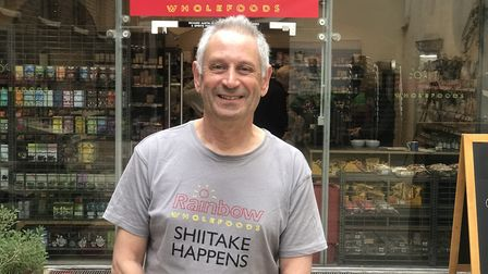 """""""It has been a tough and emotional year"""" Richard Austin from Rainbow Wholefoods. Picture: Neil Didsb"""