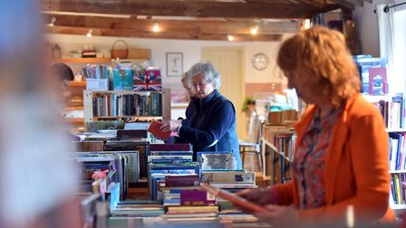 Thousands of books are on sale at the tenth and last annual Morston books sale. PICTURE: Jamie Honey