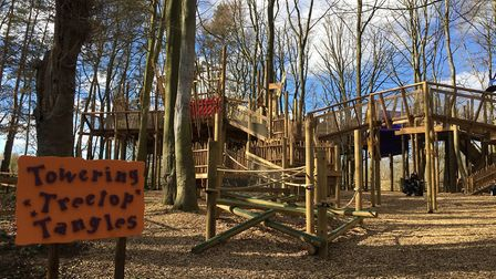 The new play attraction at BeWILDerwood. Pic: Archant.