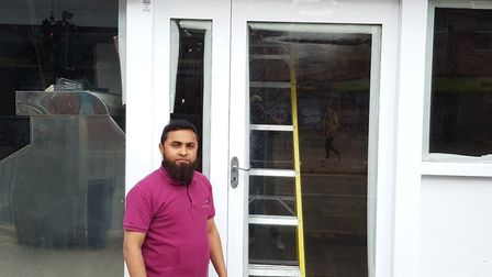 Juber Ali, owner of The Fish 'n' Chip Shop in Norwich, which has been unable to open due to gasworks