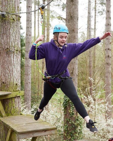 Amy Prestidge enjoying the activities put on for young carers during the Reach for the Skies event.