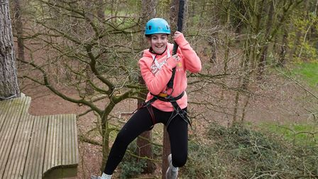 Sarah Hassan enjoying the activities put on for young carers during the Reach for the Skies event. P