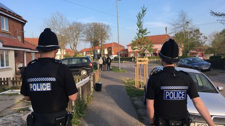 More than a dozen police officers carried out high visibility patrols in north Norwich in response t