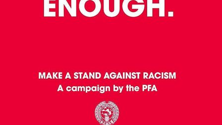 The #Enough campaign, organised by the Professional Footballers' Association. PIC: Twitter.