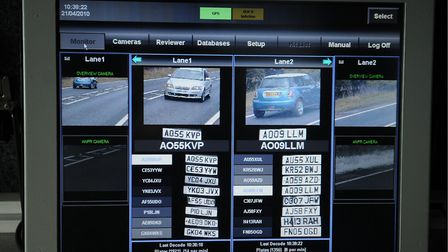 An ANPR camera scans vehicle number plates, to see if they are of interest to police Picture: Simon